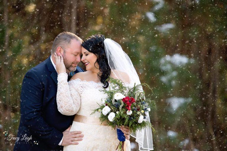 Celebrate Tuxedos 3 Oaks Barn LaGrange Georgia Snow Wedding