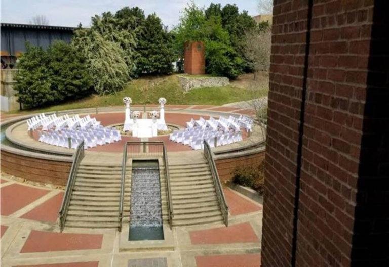 Columbus GA Trade Center Outdoor Wedding Ceremony